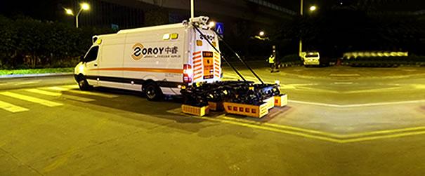 厦门采用车载雷达进行地陷灾害普查探测